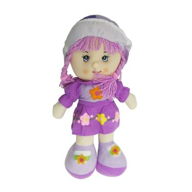Lovely Rag Little Baby Doll Soft Toy - Purple