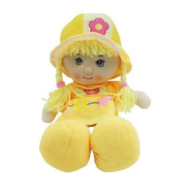 Cute Rag Baby Doll Soft Toy Yellow