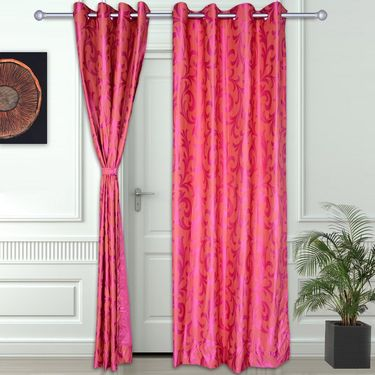Story @ Home Pink 2 pc Door curtain-7 feet-DNR3004