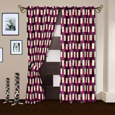 Story @ Home Purple 2 pc Door curtain-7 feet-DNR3049