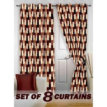 Set of 8 Printed Door curtain-7 feet-DNR_4_3051