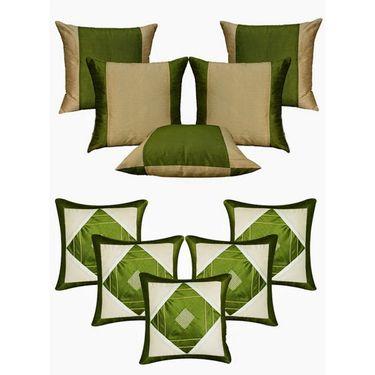 Dekor World Ultima Green Combo. Cushion Cover(Pack of 10 Pcs)-DWCB-134