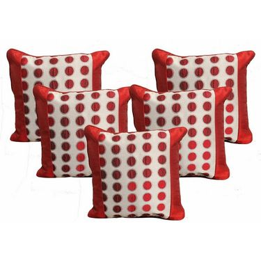 Set of 5 Dekor World Design Cushion Cover-DWCC-12-063-5