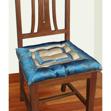 Dekor World Zari Border Chair Pad-DWCP-025