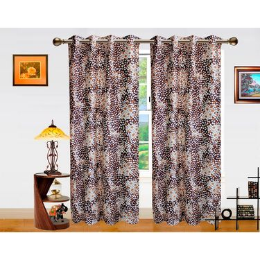 Dekor World Galaxy Mix Window Curtain-Pack of 2 -DWCT-709-5