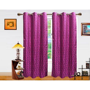 Dekor World Sprial Altra Window Curtain-Set of 2 -DWCT-717-5