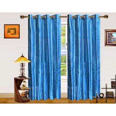 Dekor World Stripe Bonanza Window Curtain-Set of 2 Pcs-DWCT-869-5