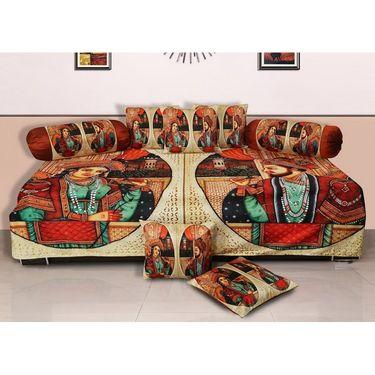 Set of 8 Dekor World Velvet Digital Printed Diwan Cover Set-DWDS-0117