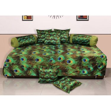 Set of 8 Dekor World Velvet Digital Printed Diwan Cover Set-DWDS-0125