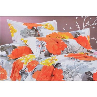 4D Printed  Double Bed Sheet With 2 Pillow Cover- DY-006