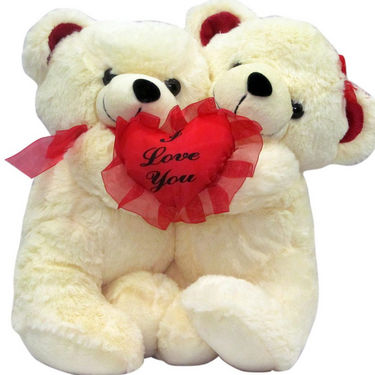 Stuff Toy Hugging Teddy Bear With Heart  - It Says Everything - 30 cms
