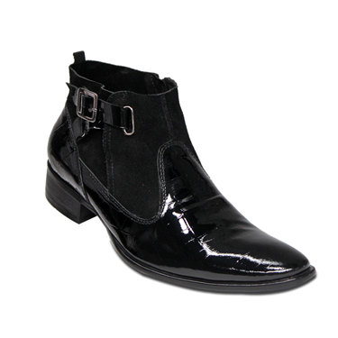 Delize Patent Leather Boots - Black