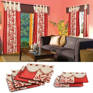 Designer Set of 4 Door + 2 Window Curtains