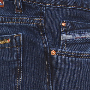Branded Plain Regular Fit Jeans For Men_Db - Blue