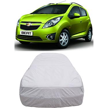 Digitru Car Body Cover for Chevrolet Beat - Silver
