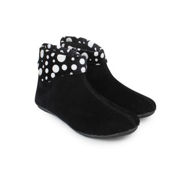 Do Bhai Suede Boots Dot-Leopard-Multi-Black