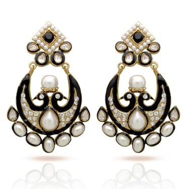 Branded Gold Plated Artificial Earrings_Er30034gbla