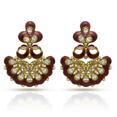 Branded Gold Plated Artificial Earrings_Er30042gred