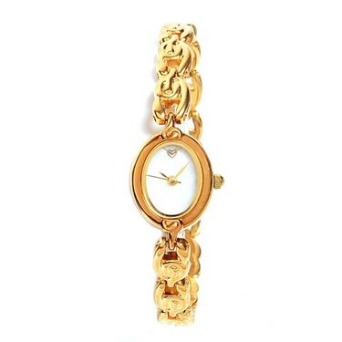 EX London Design Quartz Jewellery Wrist Watch - Golden