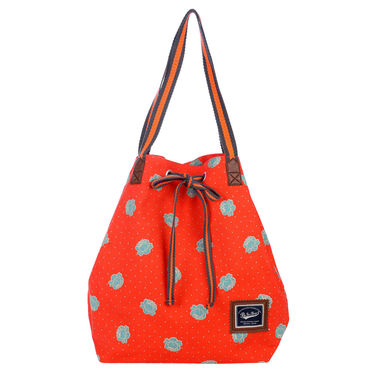 Be For Bag Canvas Cloth HandBag Orange -Edwina