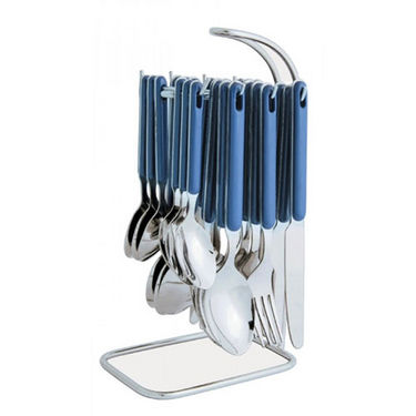 Elegante Rova 24Pcs Cutlery Set with Stand - Blue