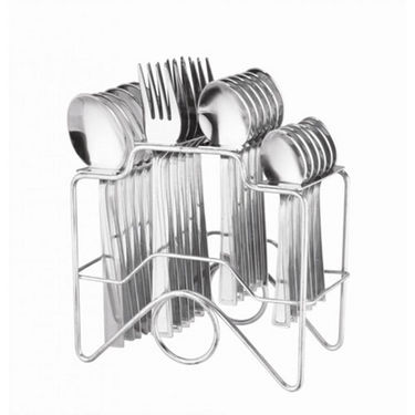 Elegante Zenith 24Pcs Cutlery Set with Stand - Steel SL-131A