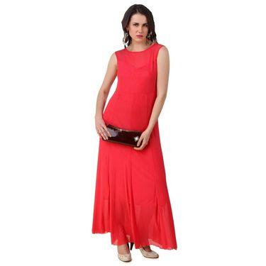 Fasense Power Net & Satin Solid Dresses  -FD001A2