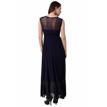 Fasense Power Net & Satin Solid Dresses  -FD001C2