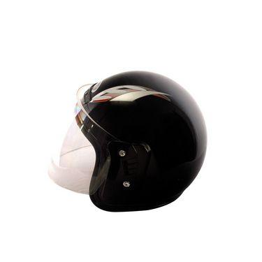 Autofurnish (FGN-519-B) FGN Open Face Helmet (Black)-FGN-519-B