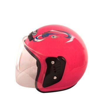 Autofurnish (FGN-519-P) FGN Open Face Helmet (Pink)-FGN-519-P
