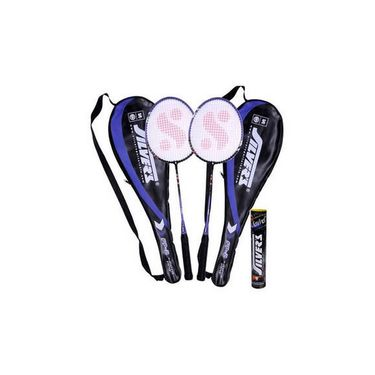 Silver'S Pack Of 2 Flex Power Fp 2 Badminton Racquets With 2 Individual Full Covers (Assorted) and 1 Box Shuttle Cock Marvel (Pack Of 10)