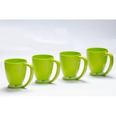 Kitchen Duniya Set of 4 Floating Mugs-Trendy Green