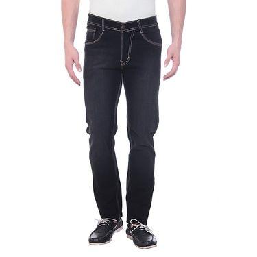 Faded Slim Fit Jeans For Men_FMD-002 - Black