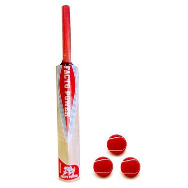 Facto Power Nude Kashmir Willow Size 6 Half Cane Handle Cricket Bat 1331