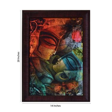eCraftIndia Abstract Couple Satin Matt Texture Framed UV Art Print-FPGK714
