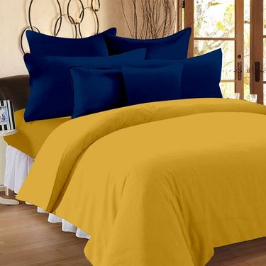 Storyathome 100% Cotton Double Bedsheet With 2 Pillow Cover-FS1204