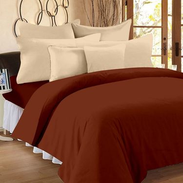 Storyathome 100% Cotton Double Bedsheet With 2 Pillow Cover-FS1207