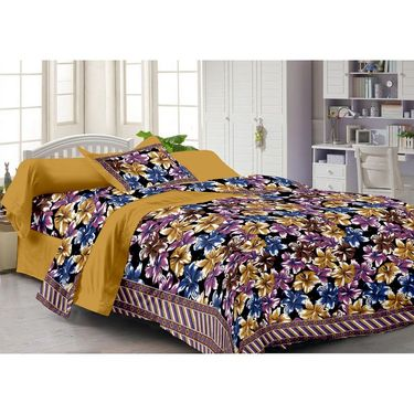 Storyathome 100% Cotton Single Bedsheet with 1 Pillow Cover-FY1106