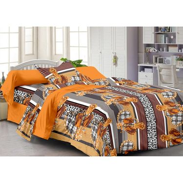 Storyathome 100% Cotton Single Bedsheet with 1 Pillow Cover-FY1204