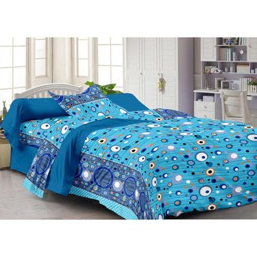 Storyathome 100% Cotton Single Bedsheet with 1 Pillow Cover-FY1206