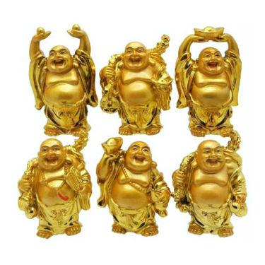 Fengshui Prosperity Combo- Set Of 6 Laughing Buddha