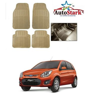 AutoStark - Premium Quality Beige Rubber Car Foot Mat For - Ford Figo
