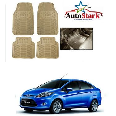AutoStark - Premium Quality Beige Rubber Car Foot Mat For - Ford Fiesta