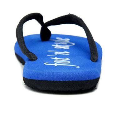 Foot n Style Slippers - Black & Blue