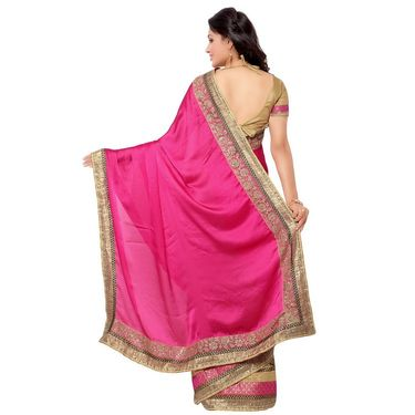 Indian Women Satin Chiffon Printed Saree -GA20109