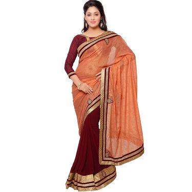 Indian Women Georgette Printed Saree -GA20114