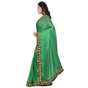 Indian Women Satin Chiffon Printed Saree -GA20115