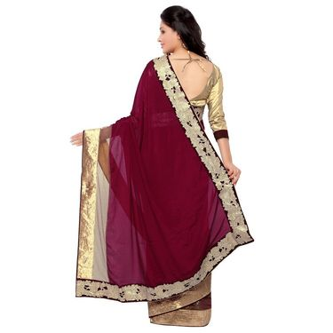 Indian Women Satin Silk Printed Saree -GA20119