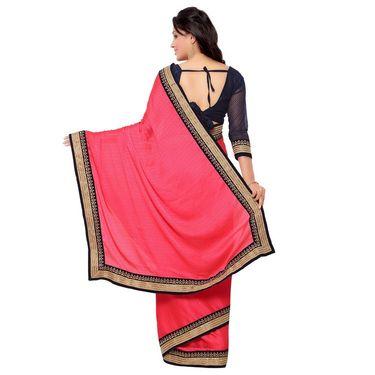 Indian Women Crepe Jacquard Printed Saree -GA20120