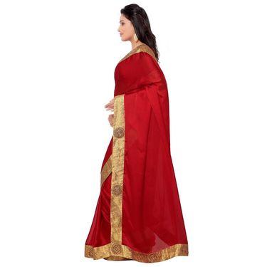 Indian Women Satin Chiffon Printed Saree -GA20129